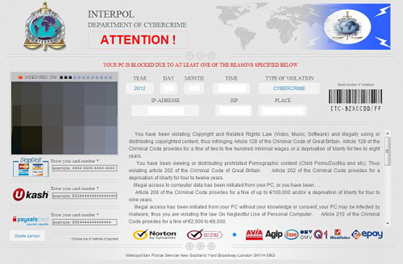 Interpol Department Of Cybercrime Attention Virus
