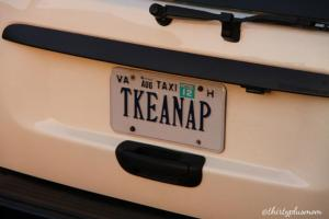 Take A Nap License Plate