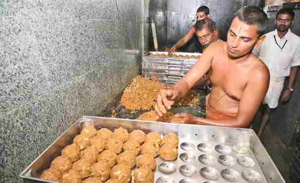 Tirupati Laddoo. Photo courtesy : Jaya Sekhar.
