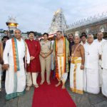 Governor of Andhra and Telangana Visits Tirumala Temple