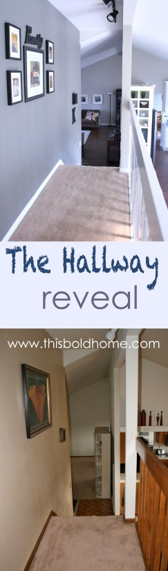 The Hallway Reveal- thisboldhome.com. Transform from old to new!