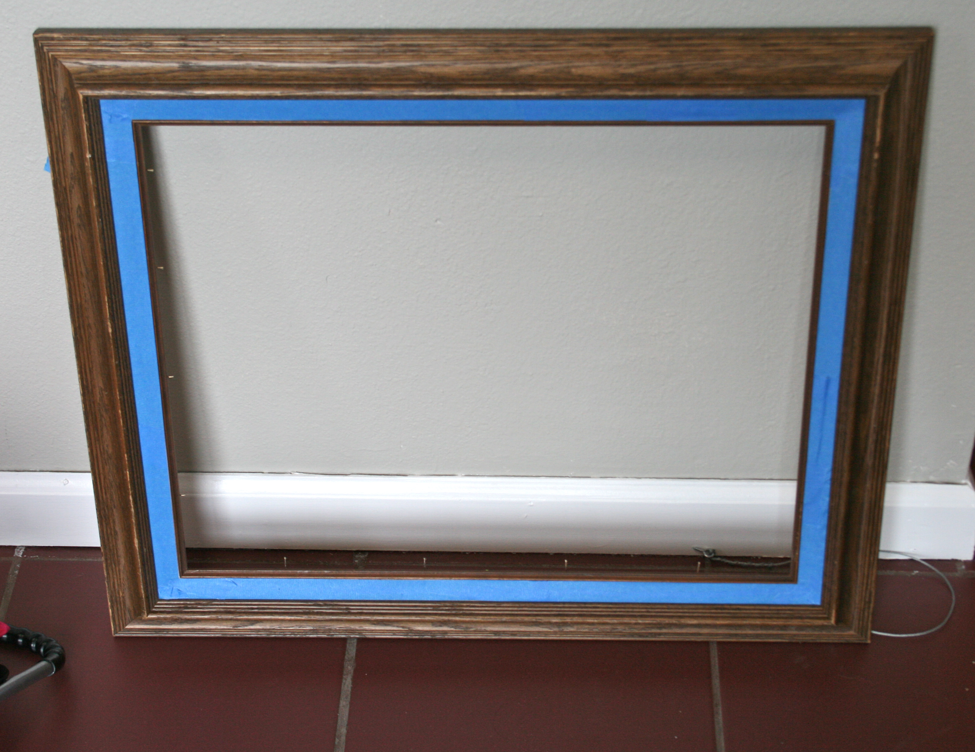 How to update a frame with paper backing - This Bold Home