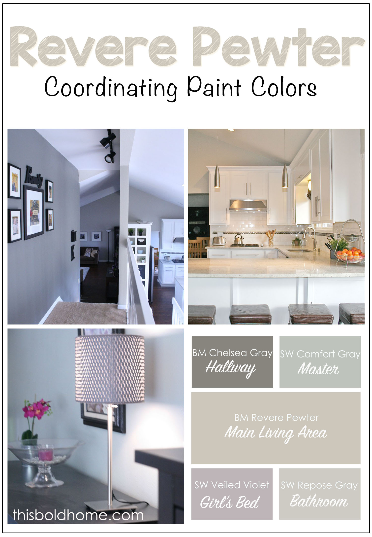 Revere Pewter Coordinating Paint Colors This Bold Home