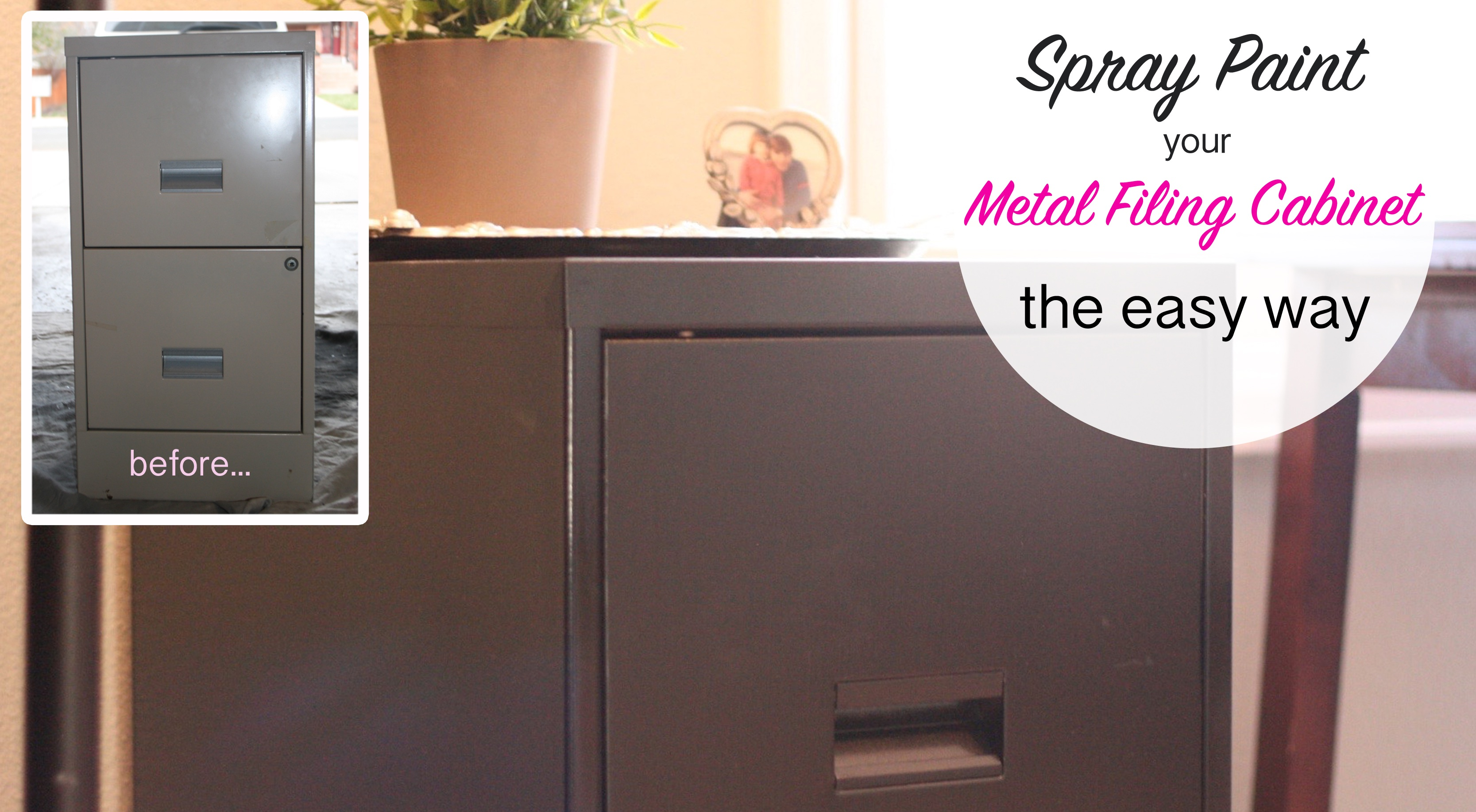 How To Spray Paint A Metal Filing Cabinet