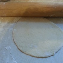 Rolled circles of dough