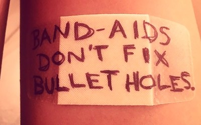 Bandaids don't fix bullet holes; or why we're holding onto decades of pain