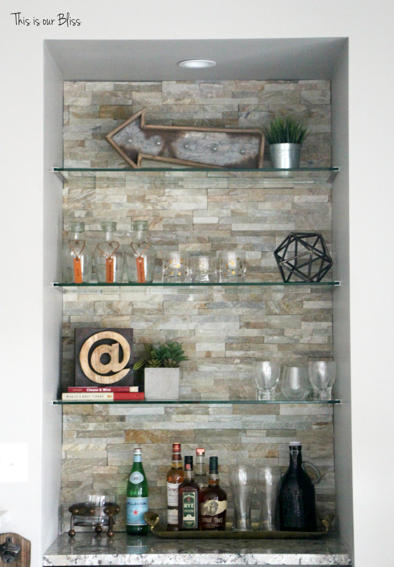 Rustic Bar Wall Decor : Basement bar progress tiob project update iv