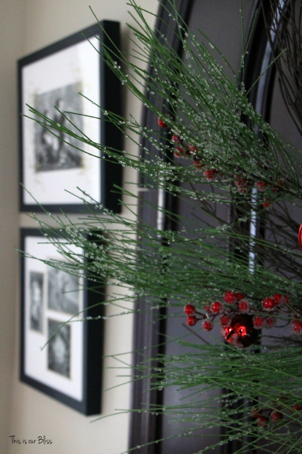 christmas front door - holiday entryway - minted art - front door wreath - This is our Bliss