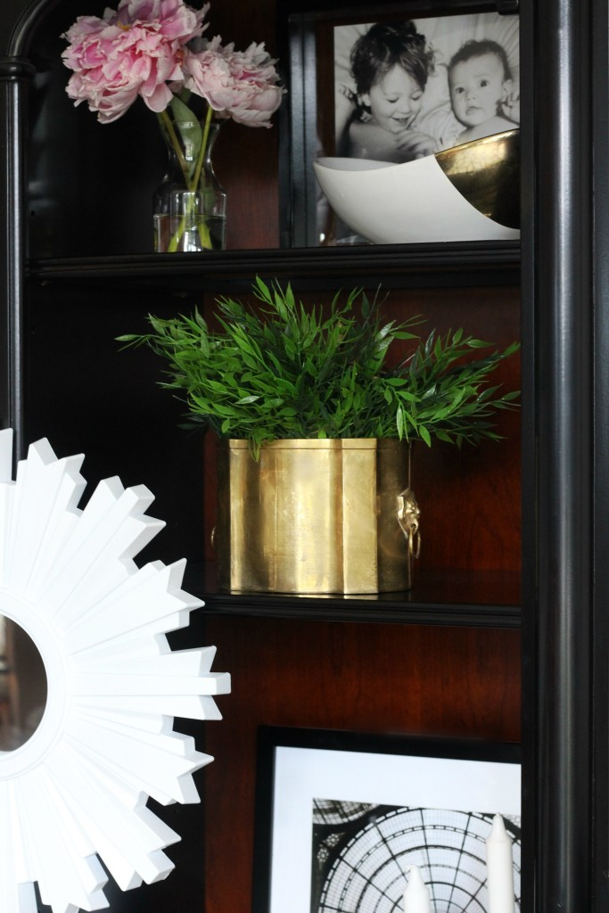 Its so Ugly Its cool Thrift challenge brass container turned planter This is our Bliss www.thisisourbliss.com
