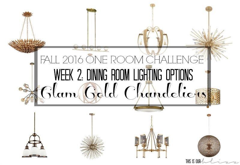 Fall 2016 One Room Challenge [Week 2: Dining Room Lighting]