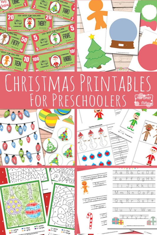 Christmas Printables for Pre-school