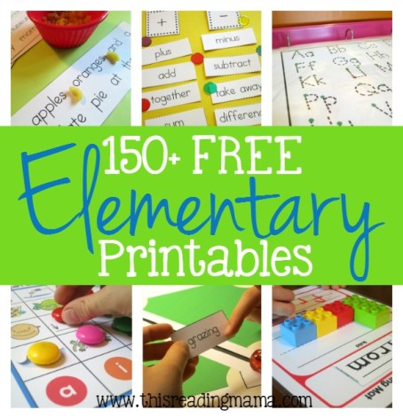 More than 150 FREE Elementary Printables - This Reading Mama