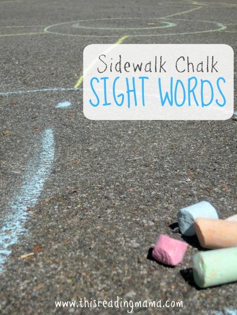 Sidewalk Chalk Sight Words - This Reading Mama