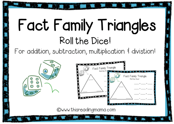 Multiplication+Fact+Family+Triangles Update: This fact family dice ...
