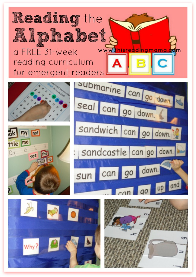 Reading the Alphabet~ a FREE 31-week reading curriculum for emergent readers | This Reading Mama