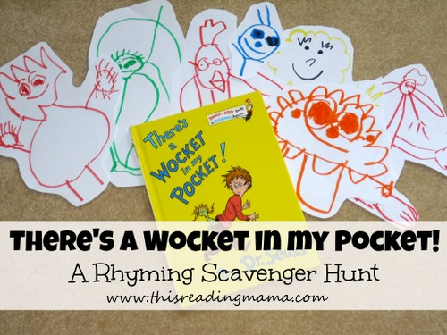 There's a Wocket in my Pocket ~ Rhyming Scavenger Hunt | This Reading Mama