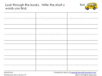 photo of BOB Book Word Hunt Printable Page | This Reading Mama
