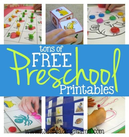 FREE Preschool Printables - This Reading Mama