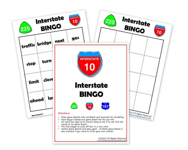 FREE Interstate BINGO {for K-2nd grades} | This Reading Mama