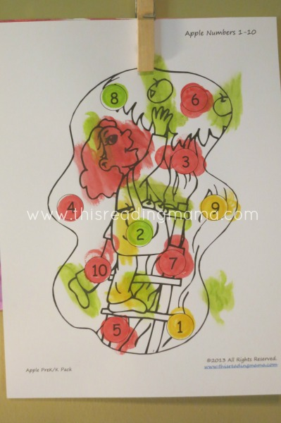 Apple Numbers 1-10 Painting | This Reading Mama