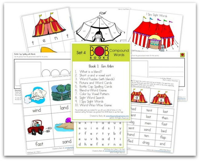 FREE BOB Book printables ~ Set 4, Book 1 | This Reading Mama