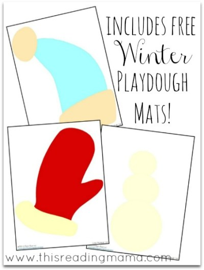 Free Winter Playdough Mats for Open-Ended Play