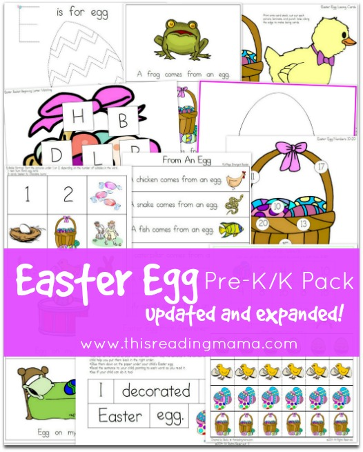 Updated Easter Egg Pre-K/K Pack | This Reading Mama