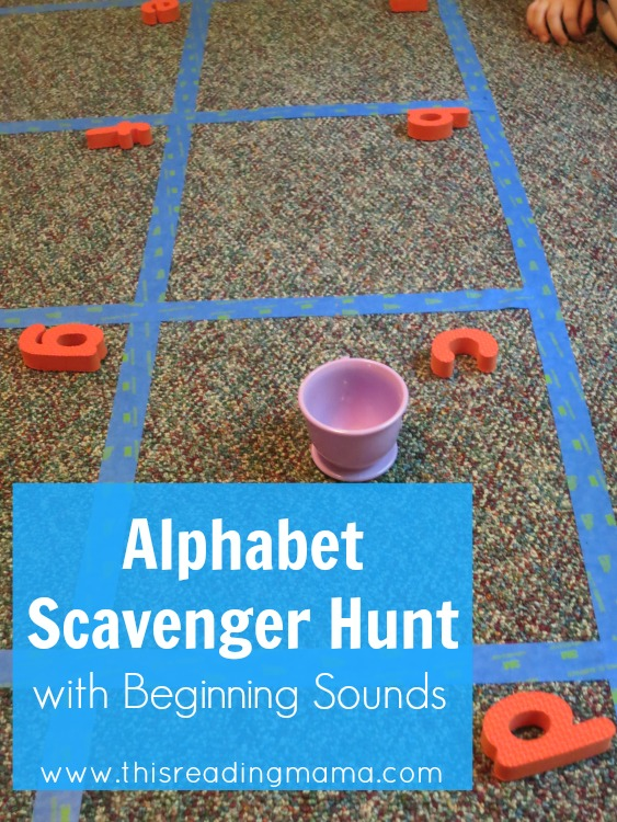 Alphabet Scavenger Hunt with Beginning Sounds - This Reading Mama