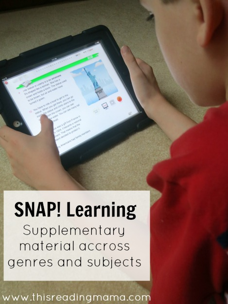 SNAP! Learning Supports Reading Across Genres and Subjects