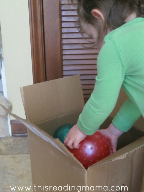 creative toddler play with a big box