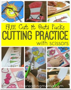 Cutting Practice with Scissors - FREE Cut it Out Packs