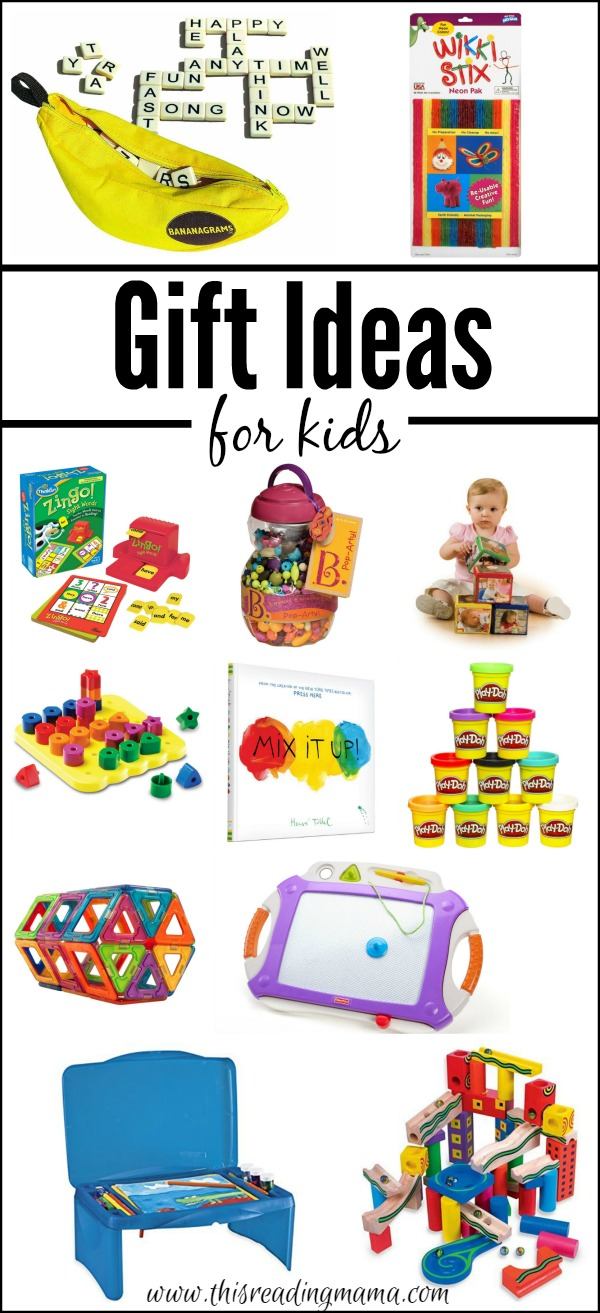 Gift Ideas for Kids for ANY time of year - book ideas and educational toys | This Reading Mama