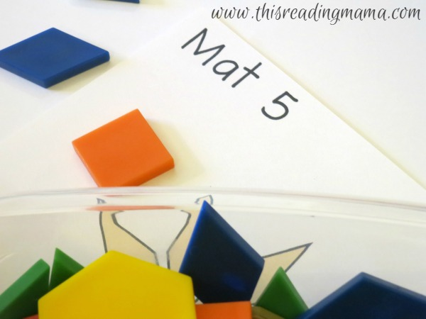 numbering the Pattern Block mats