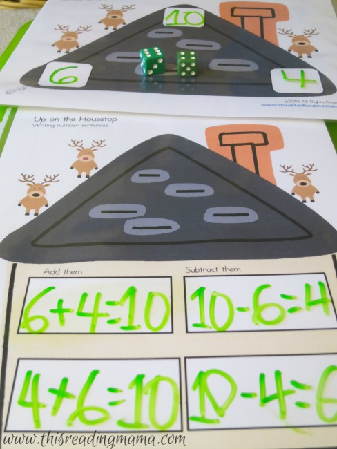 Fact Family Math Game with Addition and Subtraction
