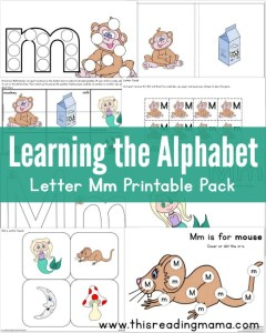 Learning the Alphabet - FREE Letter M Printable Pack - This Reading Mama