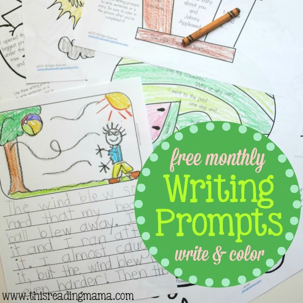 FREE Monthly Writing Prompts - This Reading Mama