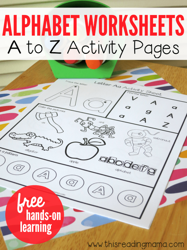 Alphabet Worksheets - FREE A to Z Activity Pages | This Reading Mama