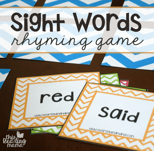 levels  levels   reading and Game   with This Reading Sight 4 Words  play sight  Rhyming of {FREE} words