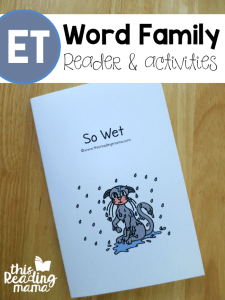 Learn to Read ET Word Family Reader & Activities