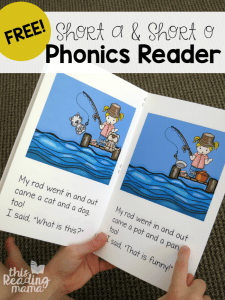 Learn to Read Short a & Short o Phonics Reader