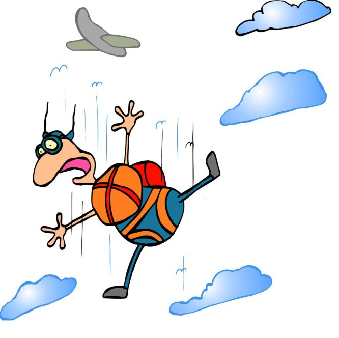 screaming parachutist