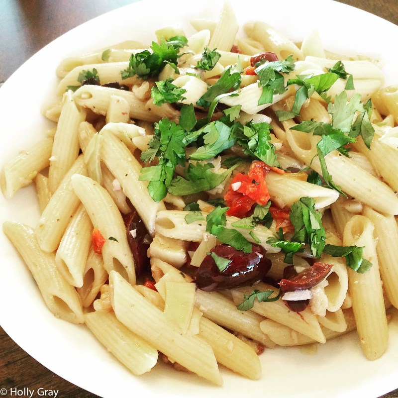 Penne with Artichokes, Walnuts, and Olives   thiswifecooks.com