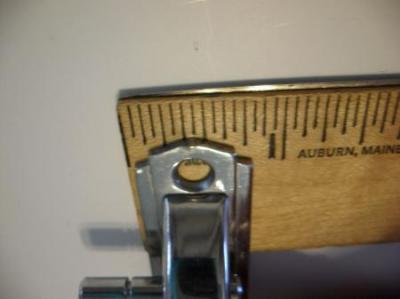Vintage NOS CHROME Hoosier Cabinet Door Latch w RED Lines RIGHT Hand 3/8