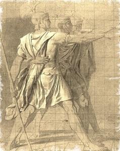 2C--black wash of Horatii Brothers--J-L David (3)--Paint1