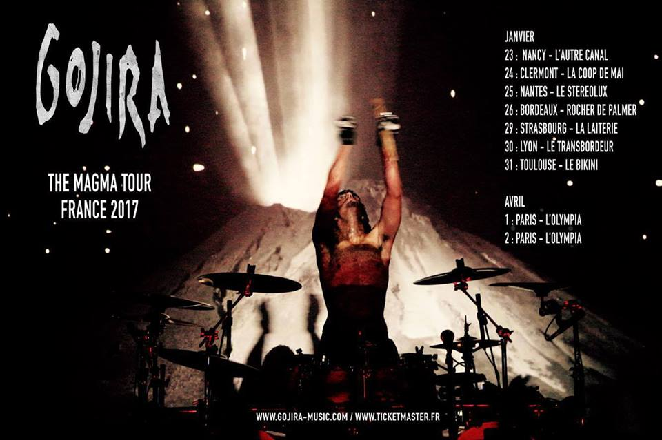 Gojira : The Magma Tour France 2017