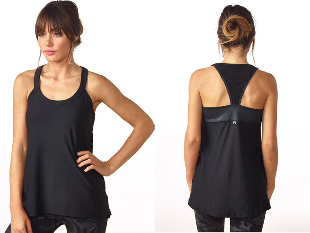 Chi Chi Active tank—love the leather trim.