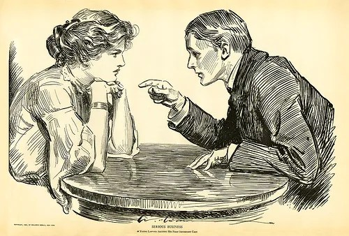 man and woman arguing photo