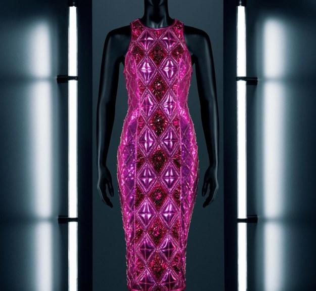 hm-balmain-pink-dress