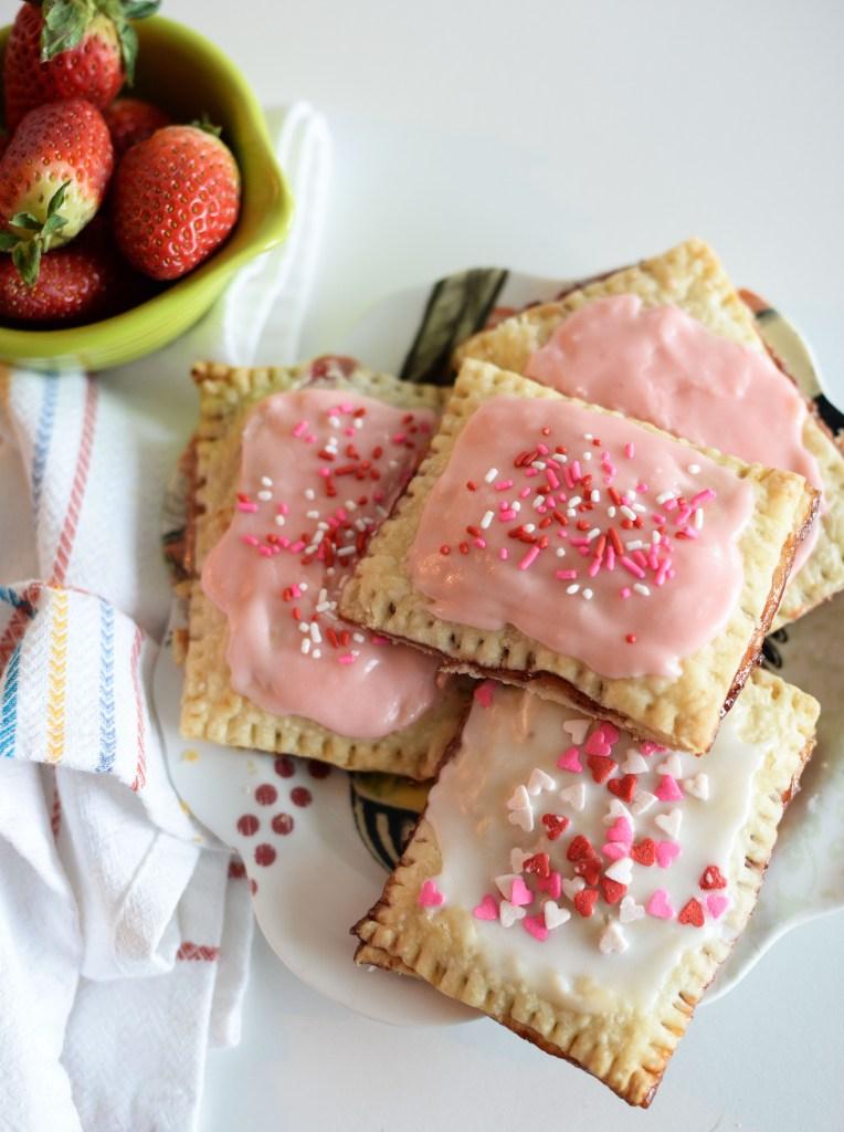 Homemade pop tarts with a Valentine's Day twist