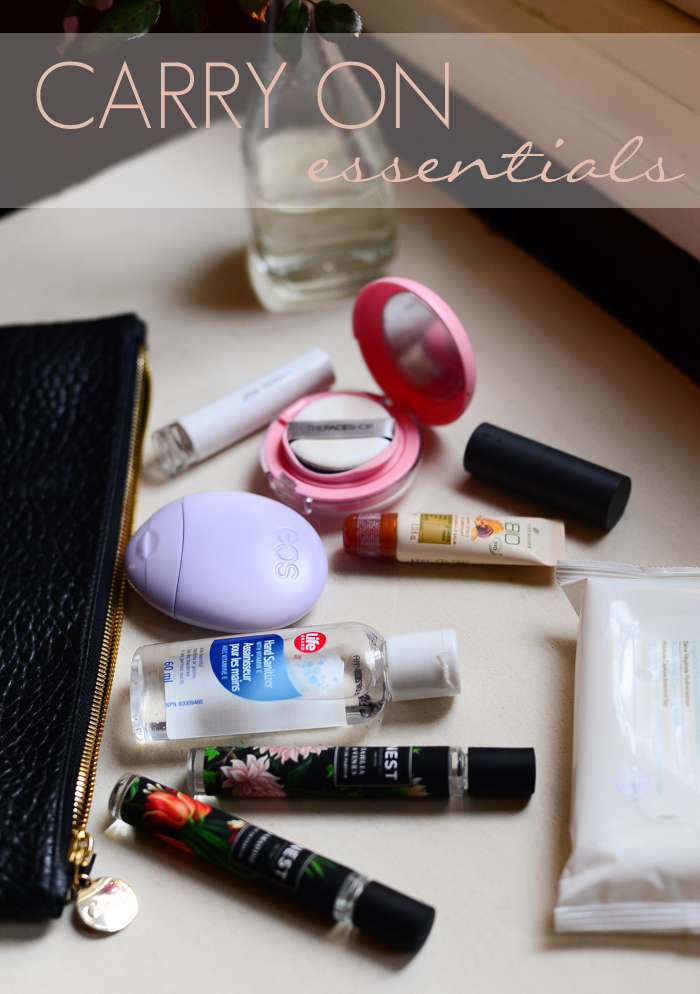 What to pack in your Carry on - Cosmetics